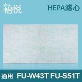 《怡悅》HEPA濾心適用夏普(Sharp)FU-S51T、FU-W43T空氣清靜機