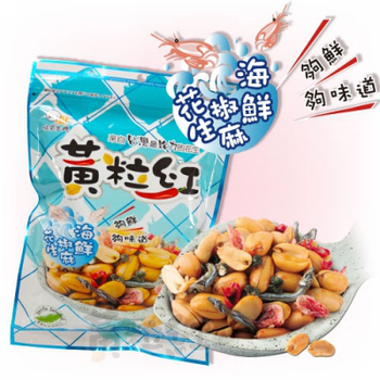 黃粒紅 海鮮椒麻花生家庭號(200g/包)