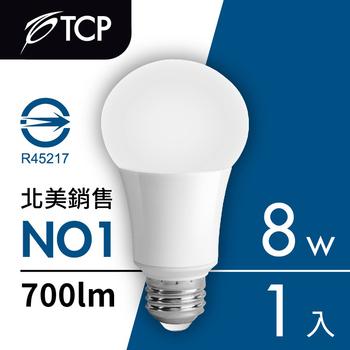 TCP台灣強凌 8瓦LED節能燈泡1入(白光)