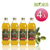 《囍瑞 BIOES》特級冷壓100% 純橄欖油(1000ml/瓶 - 4入)(B0100104)