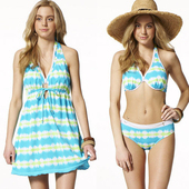 《【SARBIS】》大女三件式比基尼泳裝附泳帽B93519(M)