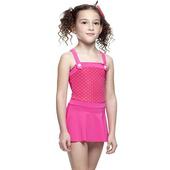 《【SARBIS】》MIT女童連身裙泳裝附泳帽B88411(12-)