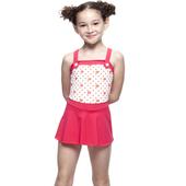 《【SARBIS】》MIT女童連身裙泳裝附泳帽B88409(12-)
