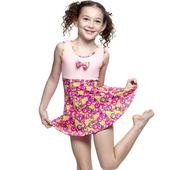 《【SARBIS】》MIT女童連身裙泳裝附泳帽B88407(12-)