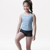 《【SARBIS】》MIT女童兩截式泳裝附泳帽B82207(12-)