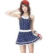《【SARBIS】》MIT大女連身裙泳裝附泳帽B98415(M)