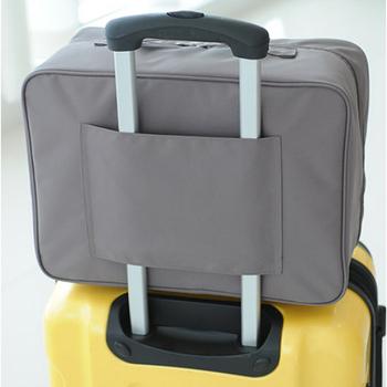 JTourist 旅行防潑水手提大旅行袋(行李箱拉桿適用)(灰)