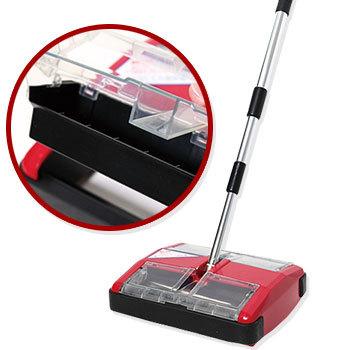 《魔特萊Motely》無動力環保吸塵器/掃地機-法拉利紅吱吱(MS588-1入)