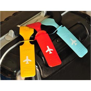 JTourist 韓版個性化小飛機PVC行李吊牌(黃)