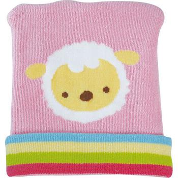 優生 喜羊羊彈性嬰兒帽(粉)