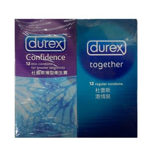 杜蕾斯Durex 保險套-暢銷人氣組合包(24片)