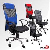 《LOGIS》開心涼夏高背事務椅 電腦椅 辦公椅 書桌椅(藍全網鐵腳)