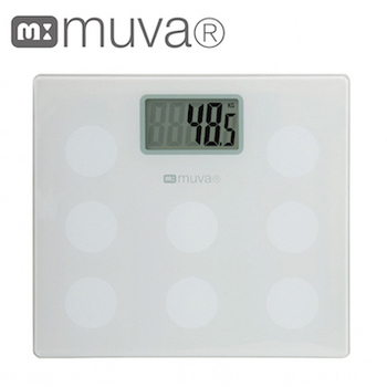 《muva》muva圓圓樂電子體重計(典雅白)