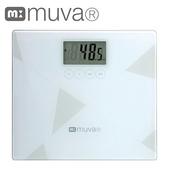 《muva》muva健康幾何學BMI電子體重計)(典雅白)