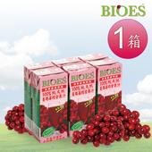 《即期良品-囍瑞 BIOES》隨身瓶100%純天然蔓越莓汁綜合原汁(200ml - 24入) (有效期限2019.10)