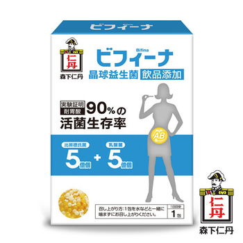 日本森下仁丹 5+5晶球益生菌-飲品添加/兒童適用(14條)