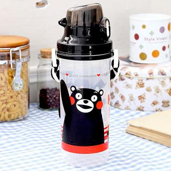 Kumamon熊本熊 彈蓋直飲水壺700cc(黑色)