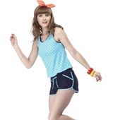 《【SARBIS】》大女兩件式泳裝附泳帽B82417(M)