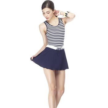 【SARBIS】 MIT泡湯SPA大女連身裙泳裝附泳帽B88417(M)
