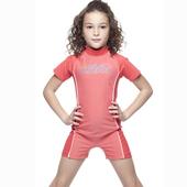 《SAIN SOU》女童連身水母衣泳裝附泳帽(10-)