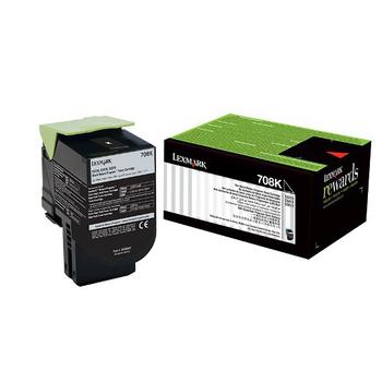 Lexmark Lexmark 708K 黑色碳粉匣 / 70C80K0,CS310,CS410