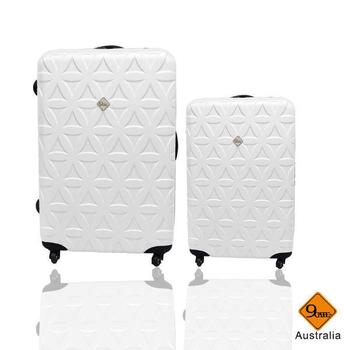《Gate9》花花系列28+20吋行李箱/旅行箱(白色)