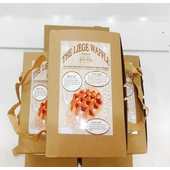 《Delicieux珍珠糖鬆餅》珍珠糖原味鬆餅禮盒買兩盒第二盒半價(一盒六片)(120克±10%/片*12)
