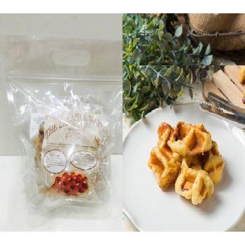 《Delicieux珍珠糖鬆餅》珍珠糖原味鬆餅組合包(4片)巧克力/乳酪/堅果/蔓越莓+小鬆餅一包(320克)(800克±10%/1組)