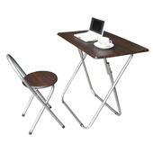 《頂堅》[耐重型]折疊桌椅組[長方形]-1桌1椅(深胡桃木色)