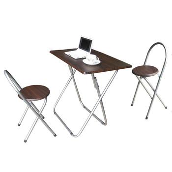 ★結帳現折★頂堅 [耐重型]折疊桌椅組-深胡桃木色(1桌2椅)(深胡桃木色)