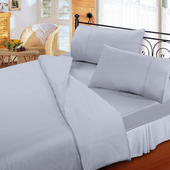 《FITNESS》純棉素雅單人床包枕套二件組-淺紫(3.5x6.2尺)