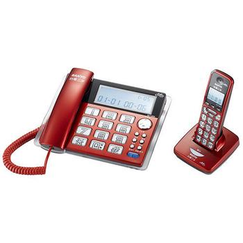 SANYO 三洋 數位無線子母機 DCT-8909(紅)