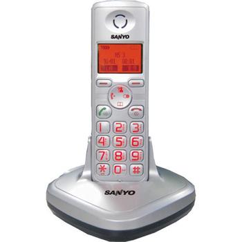 SANYO 三洋 中文字幕DECT數位無線電話 CLT-3611(銀色)