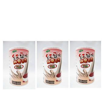 ★結帳現折★天然磨坊-鮮磨園 紅豆水鮮磨豆漿*3(450g/罐)