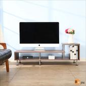 《BuyJM》簡約時尚L造型電視櫃/視聽櫃(木紋色)