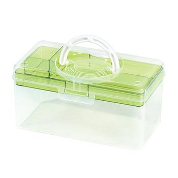 ★結帳現折★SONA PLUS TB-300 月光學生手提收納箱 三色可選(粉綠)