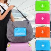 《Bunny》大容量多功能可摺疊肩背式旅行收納袋(40 L)(綠色)