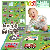 《LOG樂格》環保遊戲爬行墊2cm -動物社區(雙面街道款) 120X180cm