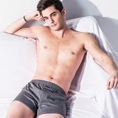 《MORINO摩力諾》耐用織帶素色平口褲 灰(L)