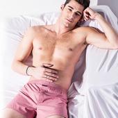 《MORINO摩力諾》耐用織帶素色平口褲 紅(L)