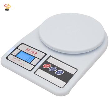 月陽 3kg家用4單位多功能精密液晶藍光版圓型電子秤料理秤(SF400B)