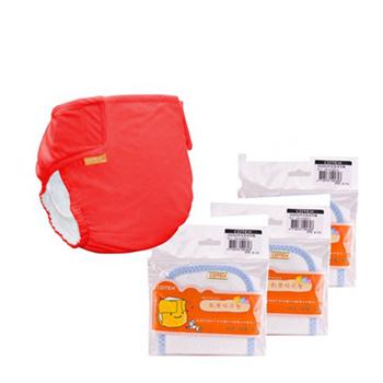 COTEX可透舒 基礎款-初生體驗包(1件外兜+3片初生型吸尿墊)(紅色)