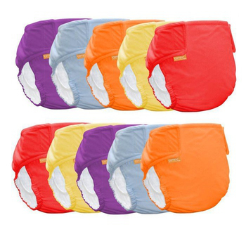 COTEX可透舒 DB500基礎款-防水尿布兜 (10件特惠組)(女寶寶色系:紅紫橙)