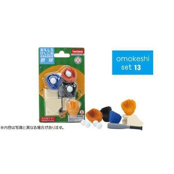 《iwako》日本製 環保無毒橡皮擦 卡版造型(野球)