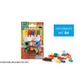 《iwako》日本製 環保無毒橡皮擦 卡版造型(餐具)