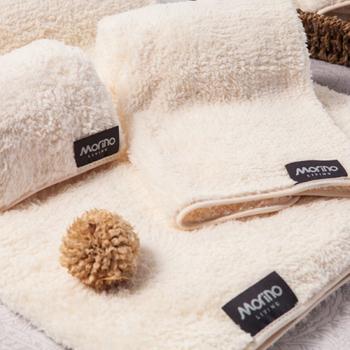 MORINO摩力諾 超細纖維毛巾(米色)