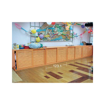 承鑫塑鋼傢俱 浮雕百葉拉門棉被櫃(照片色)
