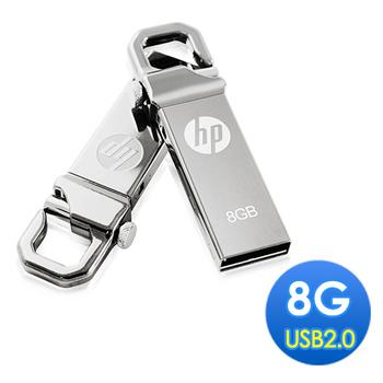 HP 8GB 勾勾金屬精品隨身碟(v250w)