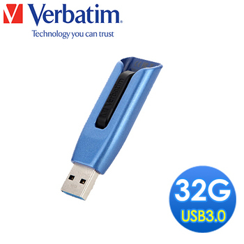 Verbatim 威寶 V3 MAX 32GB USB3.0 高速隨身碟(藍黑)