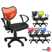 《LOGIS》LOVE椅背輕巧款全網椅/辦公椅/電腦椅/事務椅(灰)